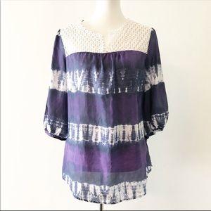 Calypso St. Barth Silk Tie Dye Blouse